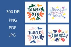 Thank you card Bundle. Thank you card clipart Product Image 1