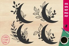 Crescent Leaves Svg Product Image 1