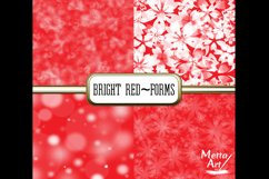 Bright Red Forms - 10 Digital Papers/Backgrounds Product Image 2