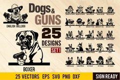 Peeking Dogs Guns SVG, BUNDLE 25 vectors, Gangster, Bad Dog, Product Image 1