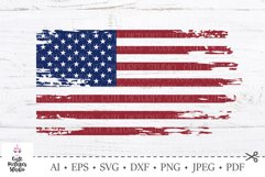 American flag distressed. 4th of July SVG. Independence Day. Product Image 1