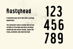 Rustyhead Typeface   Font Product Image 2