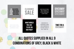25 x Grey, Black & White Online Business Social Media Quotes Product Image 4
