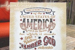 Pledge of Allegiance Patriotic July 4th SVG DXF LL127B Product Image 3