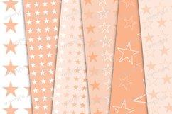 Pastel orange stars seamless pattern Product Image 2