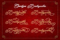 Bratayudha - Monoline Script Product Image 6
