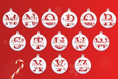 Christmas Split Letters - Christmas Ornament SVG - Monogram Product Image 3