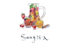 Watercolor alcohol-2 vector set Product Image 5