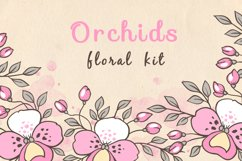 Doodle Design Elements with Orchids Product Image 1