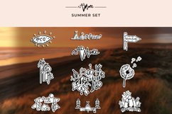Summer set. 10 illustration in doodle style Product Image 4