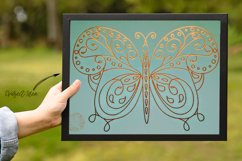Butterfly 1 - Single line for Foil Quill, Digi Stamp Product Image 3