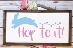 Hop to it svg, easter svg, bunny svg Product Image 4