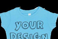 Toddler Gilrs Flat Jersey T Shirt Mockups - 17 Product Image 2