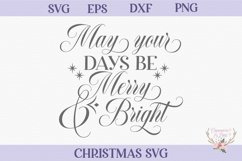 Merry and Bright Christmas SVG Product Image 2