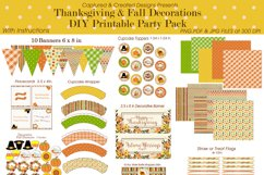 Thanksgiving & Fall Decorations DIY Printable Party Pack Product Image 3