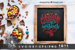 Easter Wishes SVG | Easter SVG | Floral Easter SVG Cut File Product Image 3