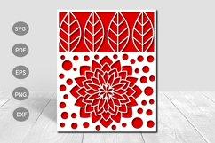 Mandala Flower Papercut Card Cover Template SVG Design Product Image 1