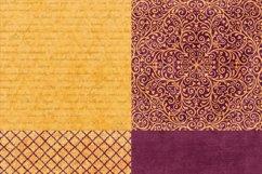 16 Royal Decree Burgundy & Gold Digital Paper Pack Product Image 4