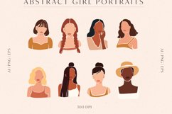 8 Vector Abstract Woman Portraits Product Image 5