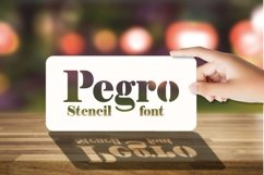 Pegro Stencil Font Product Image 1