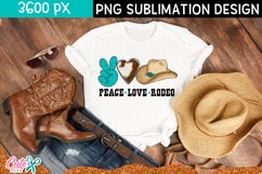 Peace love rodeo | Western sublimation design Product Image 1