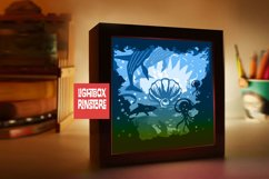 214 Beyond the sea, 3d paper cut lightbox template Product Image 2