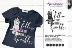 Follow Your Inner Sparkle | Unicorn SVG | Dancing Unicorn Product Image 1