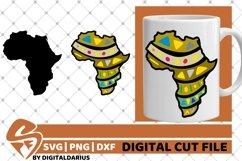 Africa Map svg, Black History svg, Afro svg, Black Woman svg Product Image 1