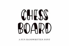 Web Font Chessboard, a playful handwritten font Product Image 1