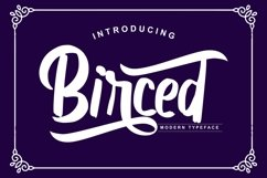 Birced | Modern Typeface Font Product Image 1