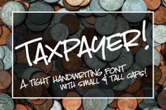 Taxpayer - my own handwriting font! Product Image 1