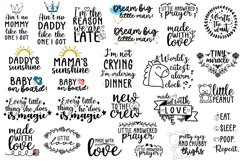 30 Baby SVG Bundle - Baby quotes SVG - New born quotesc SVG Product Image 3