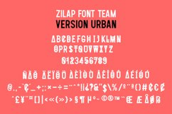 Zilap Font Team Urban Product Image 2