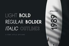 Avalore - Modern Font Family Product Image 2