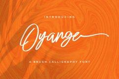 Oyange - Brush Calligraphy Font Product Image 1
