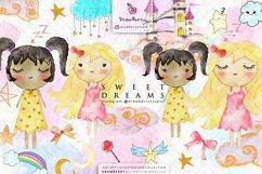 Sweet Dreams Baby Girls Nursery Clip Art Pack xo Product Image 1