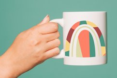 Abstract geometric rainbow in the style of boho Product Image 6
