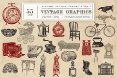 55 Vintage Vector Graphics Product Image 2