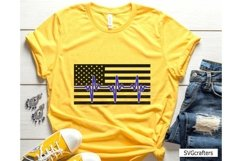 Heartbeat American Flag SVG, Police SVG, Back the blue svg Product Image 4