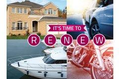Insurance Renewal Postcard Template Product Image 3