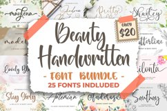 Beauty Handwritten Font Bundle Product Image 1