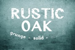 Rustic Oak A Grunge, Solid, and Stencil Font Product Image 1