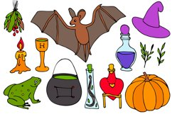 Halloween collection. Patterns, Elements, Posters Product Image 9