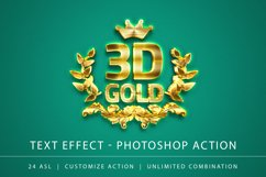 3D Gold Text Effect Product Image 1
