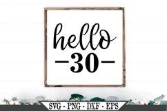 Hello 30 Birthday SVG Product Image 1