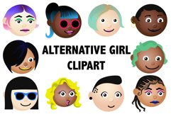 Alternative Girl Emoji Clipart Product Image 1