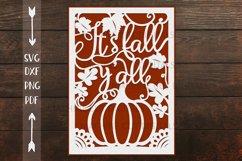 Fall Thanksgiving card papercut svg laser cut cricut file Product Image 4