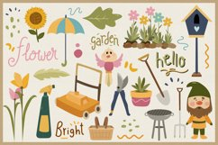Spring Season Vector Clipart & Seamless Patterns Product Image 2
