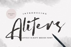 Aliters - Brush Font Product Image 1
