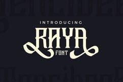 Raya Vintage Swash Font Product Image 1